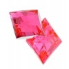 Acrylic 26x20mm Diamond Facet Hot Pink